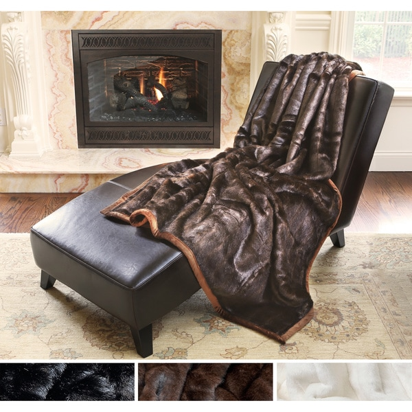 Aurora Home Mink Faux Fur Oversize Throw