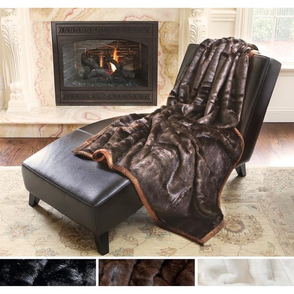 Aurora Home Mink Faux Fur Oversize Throw