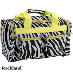 Rockland Bel-Air Zebra/Lime19-inch Carry-On Tote / Duffel Bag