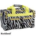 Rockland Deluxe Lime Zebra 19-inch Carry-On Tote / Duffel Bag