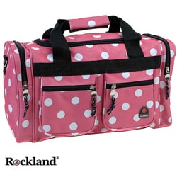 Rockland Bel-Air Pink Dot 19-inch Carry-On Tote / Duffel Bag