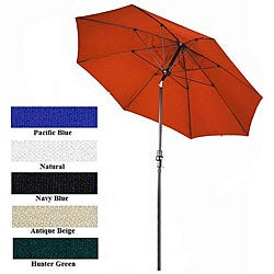 Lauren & Company Fiberglass Premium Collar Tilt 9-foot Umbrella
