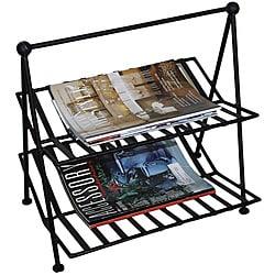Black Wrought Iron Magazine Rack