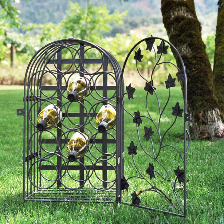 Pewter 14-bottle Wine Cage