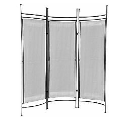 Iron and Canvas Small Pewter Room Divider