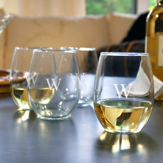 Custom Engraved Stemless Wine Glasses (Set of 4)
