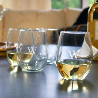 Personalized Stemless Wine Glasses (Set of 4)