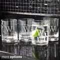 Custom Engraved Low-Ball Drinking Glasses (Set of 4)