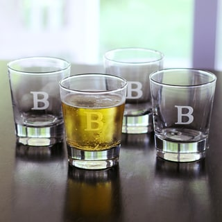 Custom Engraved Double Old-fashioned Glasses (Set of 4)