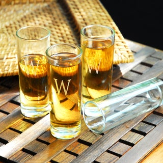 Custom Engraved Island Shooter Glasses (Set of 4)