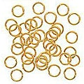 Beadaholique 22k Goldplated 6-mm Open Jump Rings (200)
