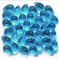 Beadaholique Czech Glass Aqua Capri Blue 9-mm Drop Beads (100)