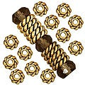 Beadaholique 22k Goldplated Pewter Twist Edge 4-mm Spacer Beads (Case of 100)
