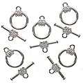 Beadaholique Silverplated 14-mm Flower Toggle Clasps (10)