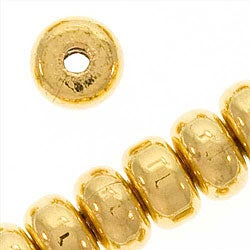 Beadaholique Goldplated Thick Heishe 4.5-mm Spacer Beads (200)
