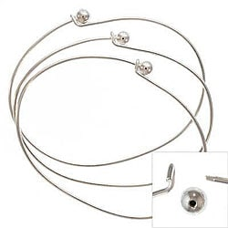 Silverplated Wire Beading Bracelets (Set of 6)