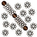 Beadaholique Silver-plated Pewter Daisy Spacer Beads (Case of 100)