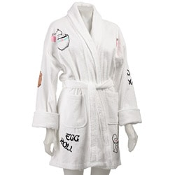 Aegean Apparel White with Chinese Applique Robe