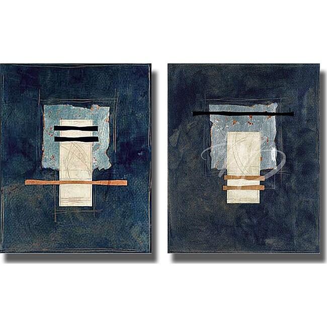 J. Strasenbugh 'Totem Azul' 2-piece Canvas Set