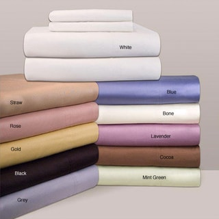 Egyptian Cotton Sateen 300 Thread Count Sheet Set