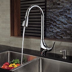 Kraus Single Lever Pull-Out Sprayer Single-Hole Chrome Kitchen Faucet