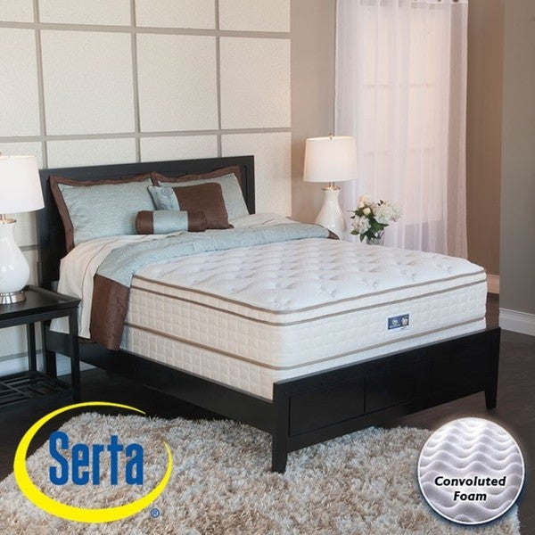 Serta Bristol Way Euro-top Queen-size Mattress and Box Spring Set