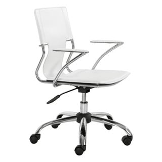 Tristan White Office Chair