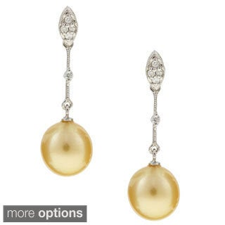 Kabella 14K Gold Dyed Southsea Pearl Earrings
