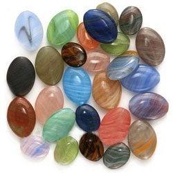Beadaholique Czech Glass Assorted Colors Oval Bead Mix