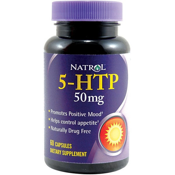 Natrol 5-HTP 50 mg 60-count Supplements (Pack of 2)