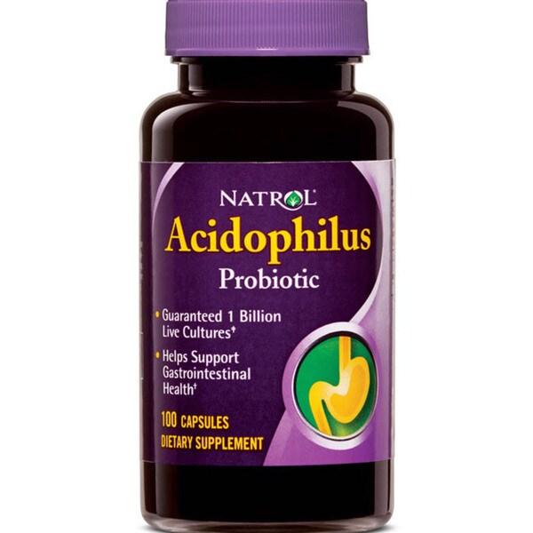 Natrol Acidophilus 100 mg Supplements (Pack of 4 100-count Bottles)