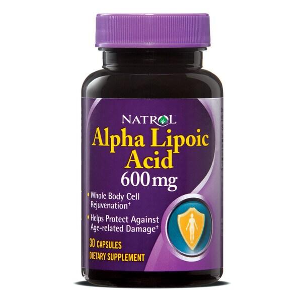 Natrol Alpha Lipoic Acid 600mg Pills (Pack of 3 30-count Bottles)