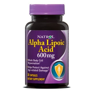 Natrol Alpha Lipoic Acid 600mg Pills (Pack of 3 30-count Bottles)