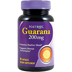 Natrol Guarana 200mg Tablets (Pack of 4 90-count Bottles)