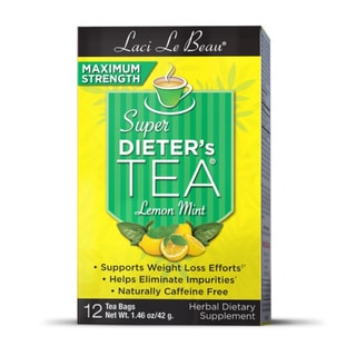Natrol Laci Maximum Strength Super Dieter's Lemon Mint Tea (Pack of 3)