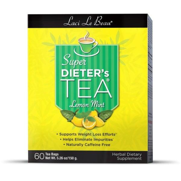 Natrol Laci Super Dieter's Lemon Mint Tea (Pack of 3 60-count Boxes)
