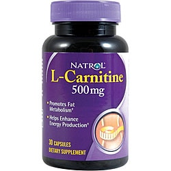 Natrol L-Carnitine 500mg Pills (Pack of 3 30-count Bottles)