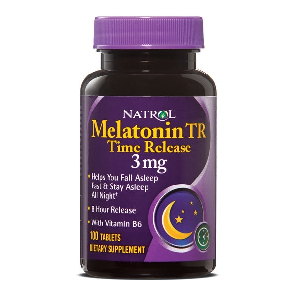 Natrol Melatonin Timed Release 3mg Pills (Pack of 4 100-count Bottles)