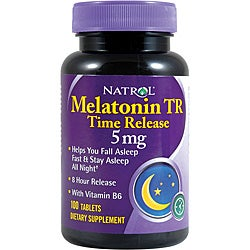 Natrol 5-mg. 100-count Melatonin TR (Pack of 4)