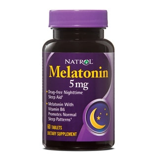 Natrol Melatonin 5mg Pills (Pack of 4 60-count Bottles)