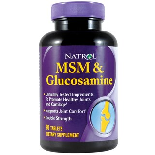 Natrol 90-count Double-strength MSM & Glucosamine 500 mg Supplement (Pack of 3)