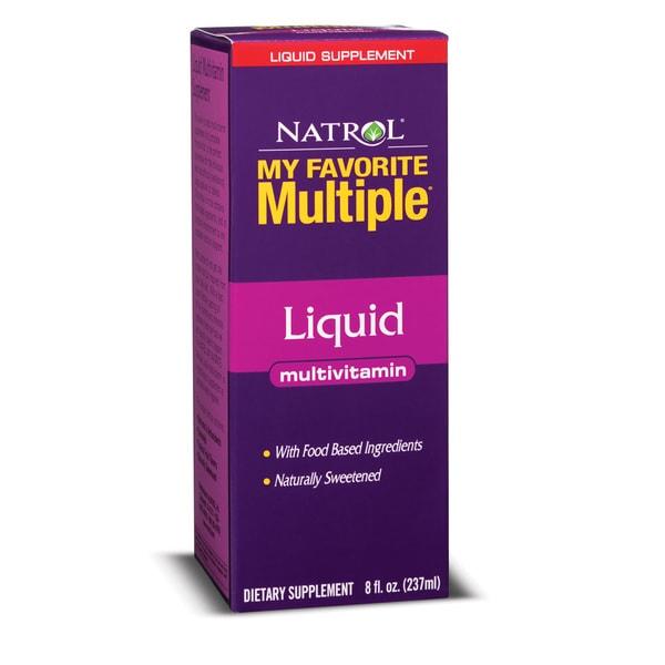 Natrol My Favorite Multiple Liquid Multivitamin (Pack of 2 8-ounce Bottles)