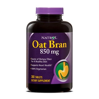 Natrol 850 mg Oat Bran Fiber Pills (Pack of 2 360-count Bottles)