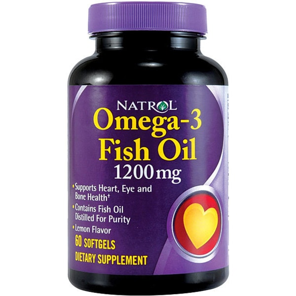 Natrol Omega-3 1200mg Softgels (Pack of 4 60-count Bottles)