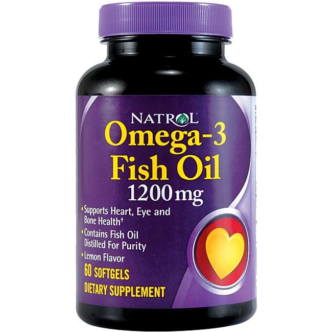 Natrol Omega-3 1200mg Softgels (Pack of 4 60-count Bottles)
