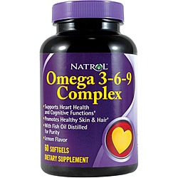 Natrol Omega 3-6-9 Complex Softgels (Pack of 3 60-count Bottles)