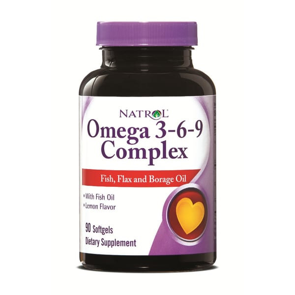Natrol Omega-3 M/D Complex 3-6-9 VS Softgels (Pack of 3 90-count Bottles)
