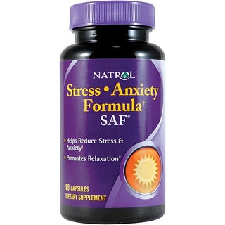 Natrol Stress Anxiety Formula Tablets (Pack of 2 90-count Bottles)