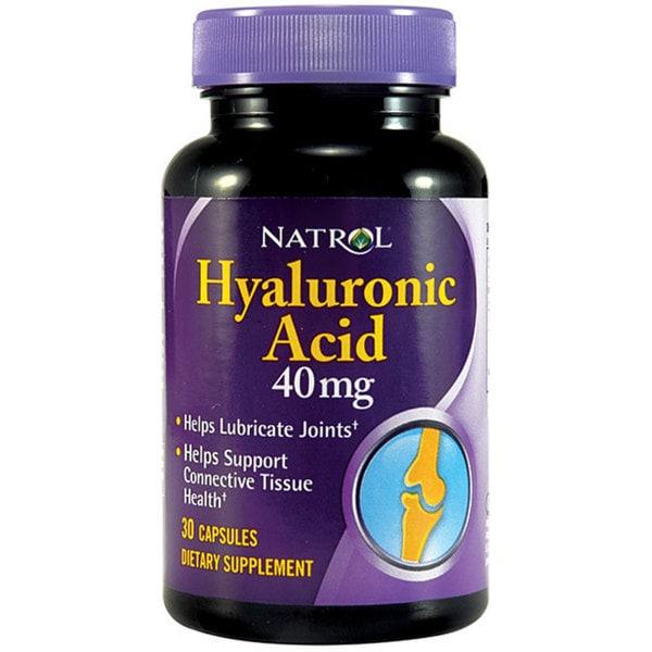 Natrol Hyaluronic Acid Supplements (Pack of 2 30-count Bottles)