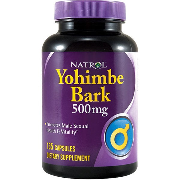 Natrol 500 mg Yohimbe Bark Pills (Pack of 4 135-count Bottles)